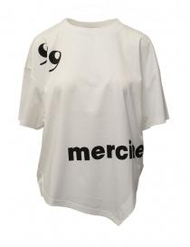 T-shirt bianca con scritta Mercibeaucoup, online