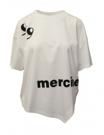 White T-shirt with Mercibeaucoup, writing online