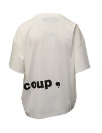 T-shirt bianca con scritta Mercibeaucoup,