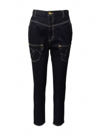 Womens jeans online: Mercibeaucoup, low crotch jeans with inverted pockets