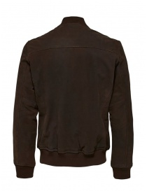 Selected Homme brown leather bomber