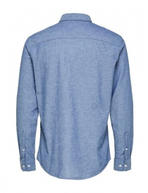 Camicia Selected Homme azzurra in lino