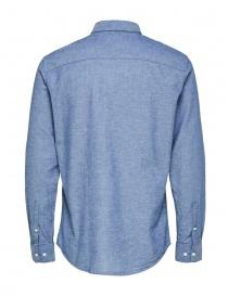 Selected Homme blue shirt in linen buy online
