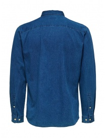 Camicia Selected Homme denim jacquard