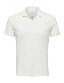 Selected Homme white polo shirt 16072736 EGRET order online