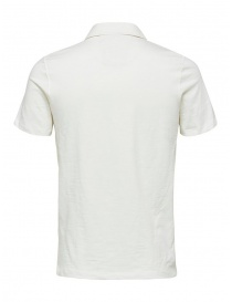 Selected Homme white polo shirt