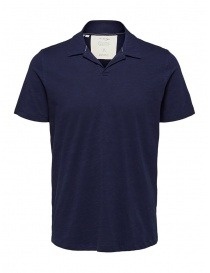 Mens t shirts online: Selected Maritime blue polo shirt