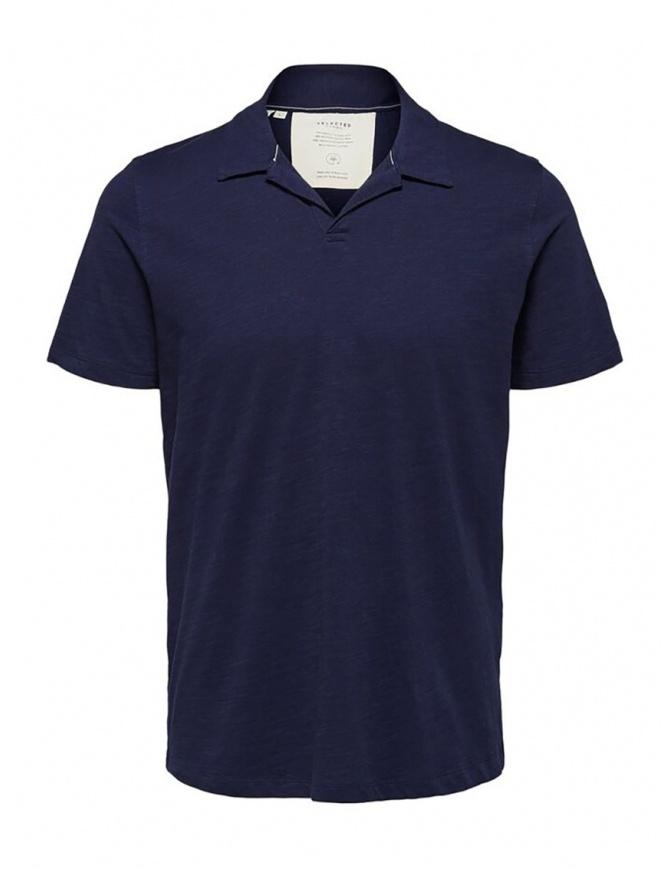 Polo Selected Maritime blu 16072736 MARITIME BLUE t shirt uomo online shopping