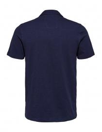 Selected Maritime blue polo shirt