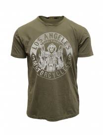 Mens t shirts online: Rude Riders Los Angeles Motorcycle green t-shirt