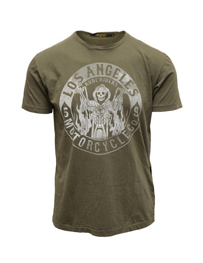 Rude Riders t-shirt Los Angeles Motorcycle verde R04002 86618 TSHIRT GREEN t shirt uomo online shopping