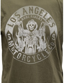 Rude Riders Los Angeles Motorcycle green t-shirt price