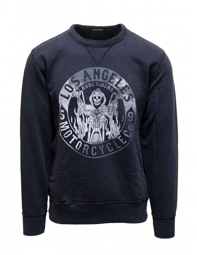 Rude Riders blue Los Angeles Motorcycle sweatshirt R04101 44529 SWEAT BLUE mens knitwear online shopping