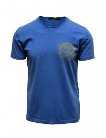 Rude Riders t-shirt blu con stampa gialla online