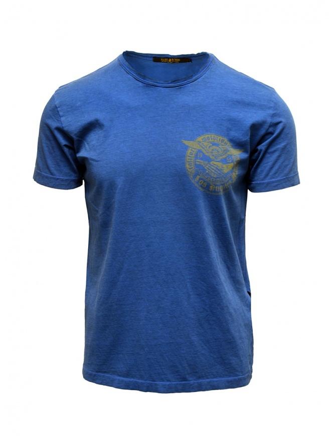 Rude Riders blue t-shirt with yellow print R04010 86516 TSHIRT ROYAL mens t shirts online shopping