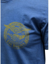 Rude Riders blue t-shirt with yellow print price