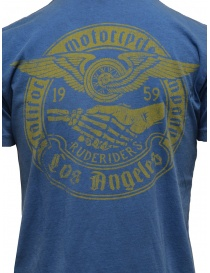Rude Riders blue t-shirt with yellow print mens t shirts buy online