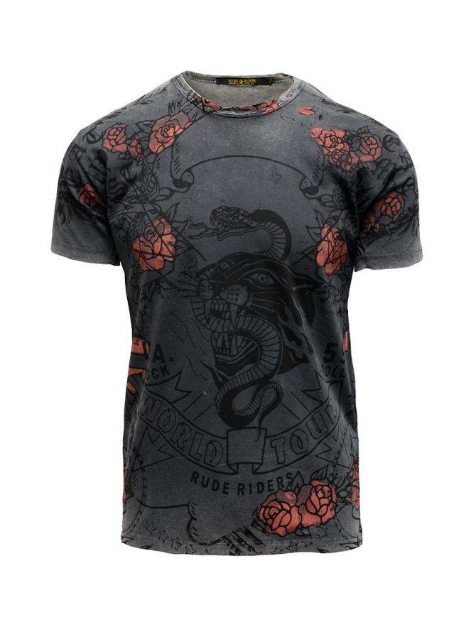 Rude Riders World Tour t-shirt in gray R04130 10009 TSHIRT BLACK mens t shirts online shopping