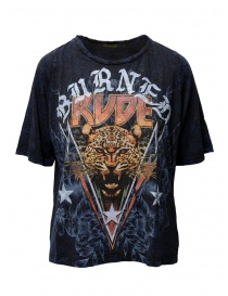 Rude Riders t-shirt Burned Rude blu online