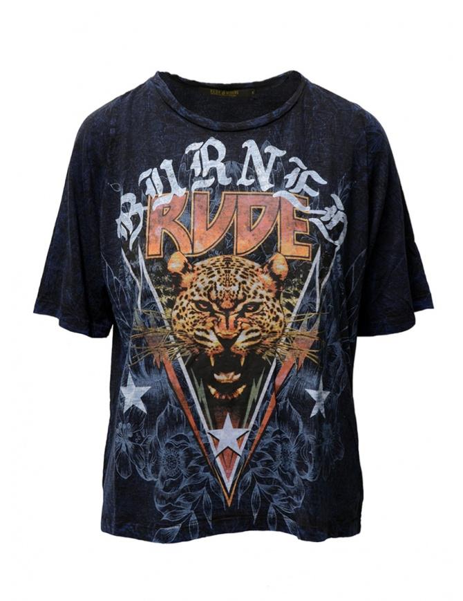 Rude Riders Burned Rude blue t-shirt R04522 86516 TSHIRT ROYAL womens t shirts online shopping