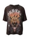Rude Riders Burned Rude burgundy t-shirt buy online R04522 86634 BURNED