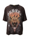 Rude Riders t-shirt Burned Rude bordeaux acquista online R04522 86634 BURNED