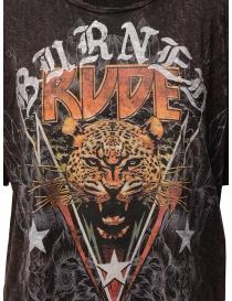 Rude Riders Burned Rude burgundy t-shirt price