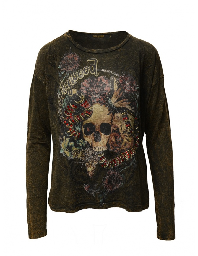 Rude Riders Hollywood t-shirt with red rhinestones R04524 86210 TSHIRT ASPEN womens t shirts online shopping