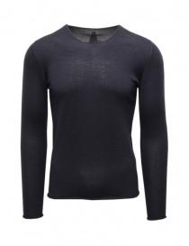Label Under Construction pullover in cashmere e seta blu online