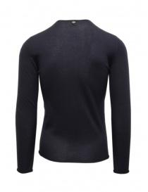 Label Under Construction pullover in cashmere e seta blu