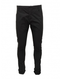 Mens trousers online: Label Under Construction black cotton pants