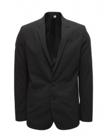 Label Under Construction black cotton blazer online