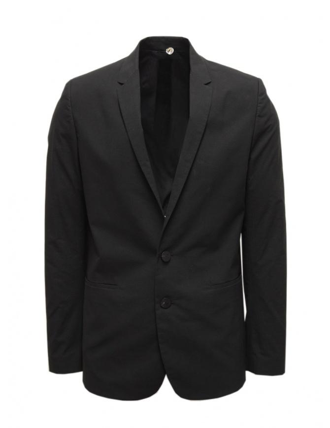Label Under Construction black cotton blazer 35FMJC104 CO186B 35/BK mens suit jackets online shopping