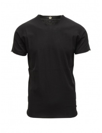 Mens t shirts online: Label Under Construction black cotton t-shirt