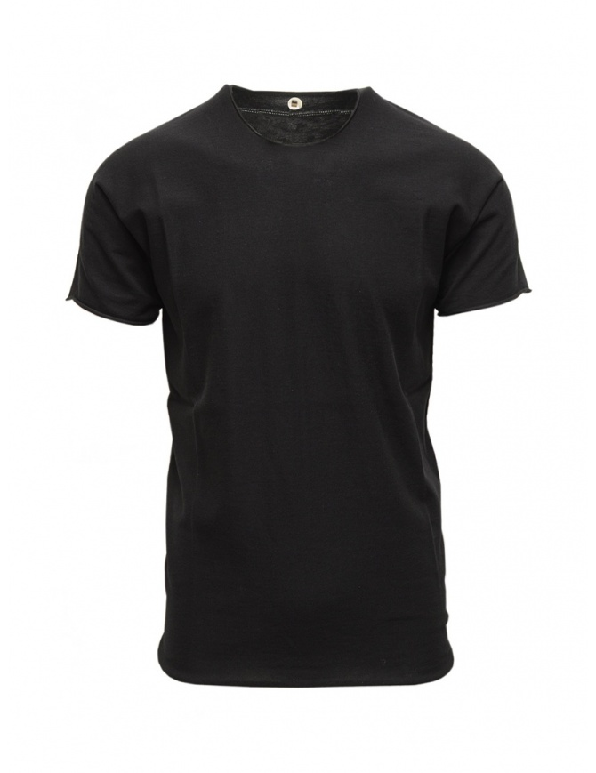 T-shirt Label Under Construction nera in cotone 35YMTS318 CO207 35/BK-MG t shirt uomo online shopping