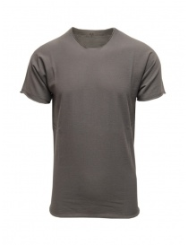 Mens t shirts online: Label Under Construction grey cotton t-shirt
