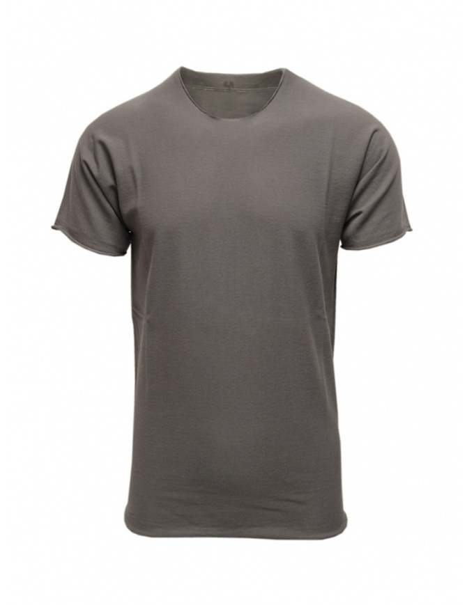 Label Under Construction grey cotton t-shirt 35YMTS318 CO207 35/MG-BK mens t shirts online shopping