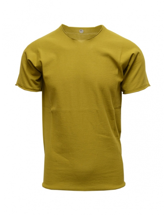 Label Under Construction mustard t-shirt 35YMTS318 CO207 35/MS-NV mens t shirts online shopping