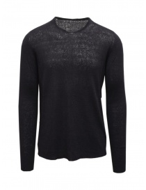 Mens knitwear online: Label Under Construction dark blue thermal sweater