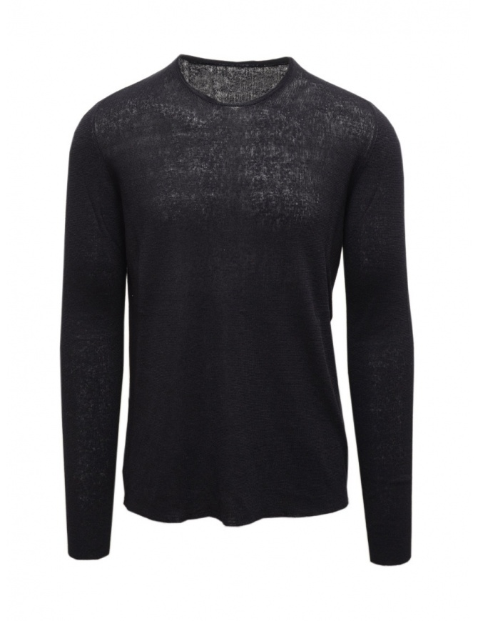 Label Under Construction dark blue thermal sweater 35YMSW243 LC17 35/NV mens knitwear online shopping