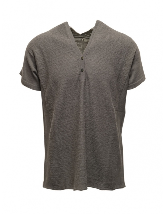 Label Under Construction grey short sleeved knitted T-shirt 35YXTS321 CO132 35/MG mens knitwear online shopping