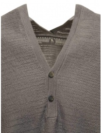 Label Under Construction grey short sleeved knitted T-shirt mens knitwear buy online