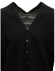 Label Under Construction black cotton cardigan sweater price
