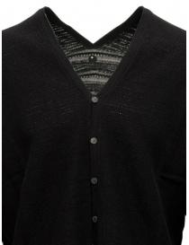 Label Under Construction maglia cardigan nero in cotone prezzo