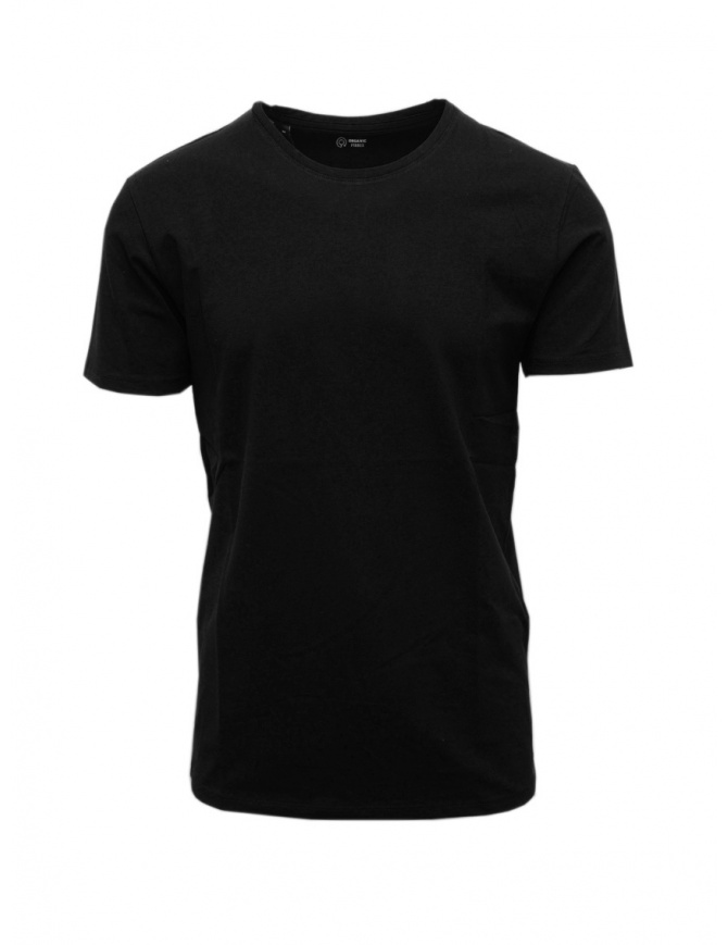 T-Shirt nera cotone organico Selected Homme 16073457 BLK t shirt uomo online shopping