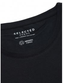 T-Shirt nera cotone organico Selected Homme prezzo