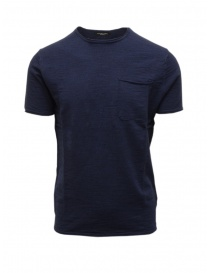 Mens t shirts online: Selected Homme navy T-shirt with chest pocket