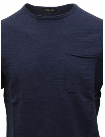 T-shirt Selected Homme colore blu con taschino