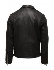 Giacca biker Selected Homme in pelle nera prezzo