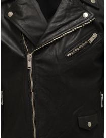Giacca biker Selected Homme in pelle nera giubbini uomo acquista online